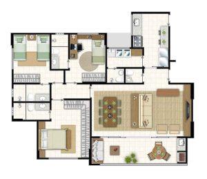 15 - Icone residence, 3 quartos,3 suites,jardim goias, goiania,parque,flamboyant,tel.,apartamento