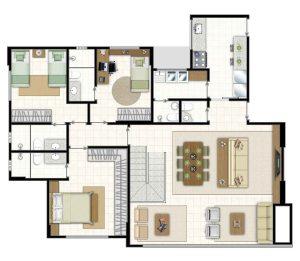 16 - Icone residence, 3 quartos,3 suites,jardim goias, goiania,parque,flamboyant,tel.,apartamento