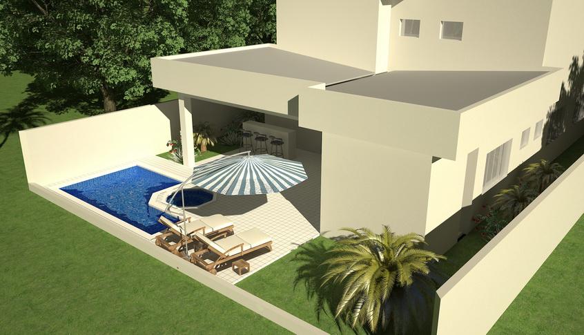 Sobrado novo 4 quartos 4 suites com piscina a venda no Jardins valencia goiania